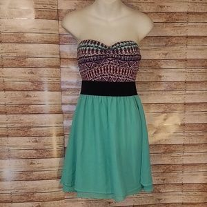 Rue 21 strapless color block dress size medium